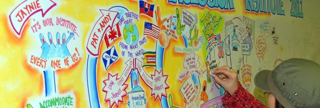 The Scottish Inclusion Institute graphic recording